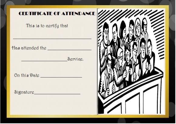 Jury Duty Certificate of Attendance