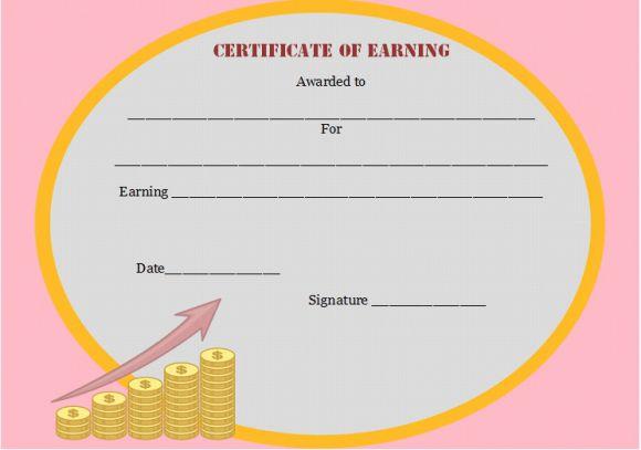 Jury Service Certificate of Earning