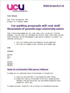 Local Press Release Template