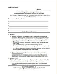 Model IPM Contract