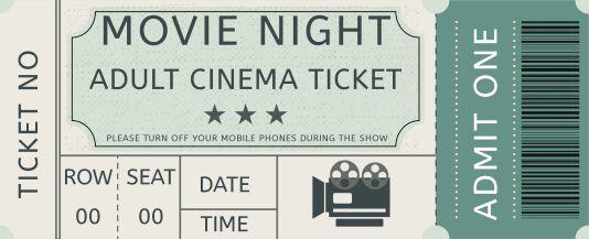 Movie Admission Ticket Template