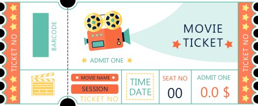 Movie Theater Ticket Template