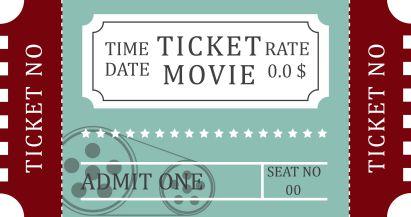 Movie Ticket Invitations Templates