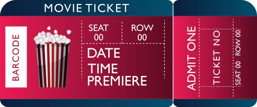 Movie Ticket Place Card Template