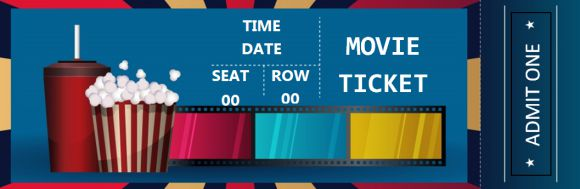 Movie Ticket Template for Words
