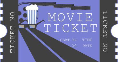 Movie Tickets Invitations Templates