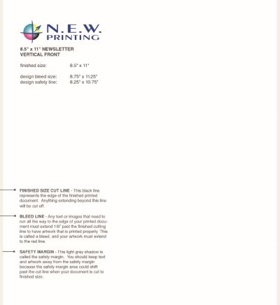 Newsletter New Printing Front Template