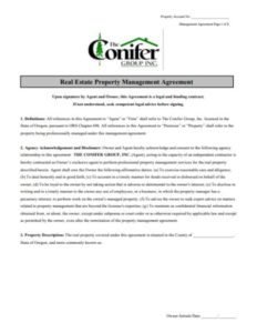 Property Agreement Web