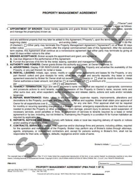 32 Property Management Agreement Templates For Residential And