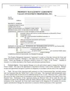 Property Mnagement Agreement
