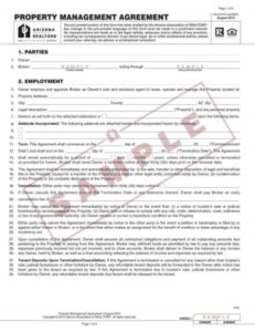 Sample Property Management Agreement Form