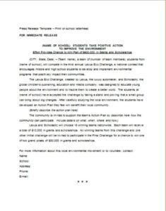 Scholastic Press Release