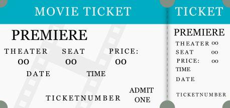 Star Wars Movie Ticket Template