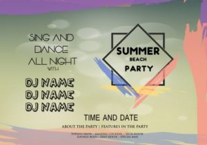 Summer Beach Party DJ