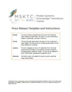 Template Press Release