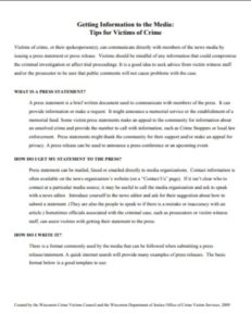 Tips Writing Press Release