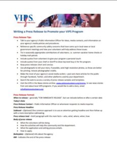 VIPS Press Release Sample and Tips