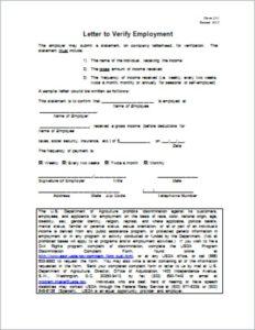 Verification Employment Document