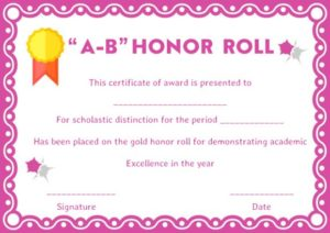 picture about Free Printable Honor Roll Certificates referred to as Honor Roll Certificates: 12 Templates in the direction of Gain Academics and