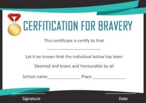 Brave Boy Certificate