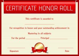 Custom Honor Roll Certificate