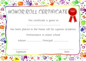 Free Honor Roll Award Certificate