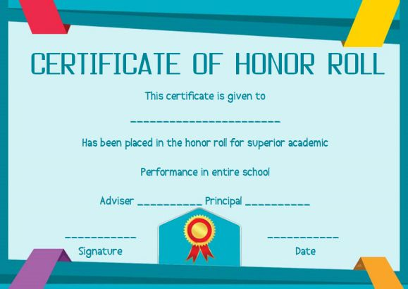 honor roll certificates 12 templates to reward teachers and