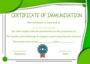 Immunisation Bravery Certificate