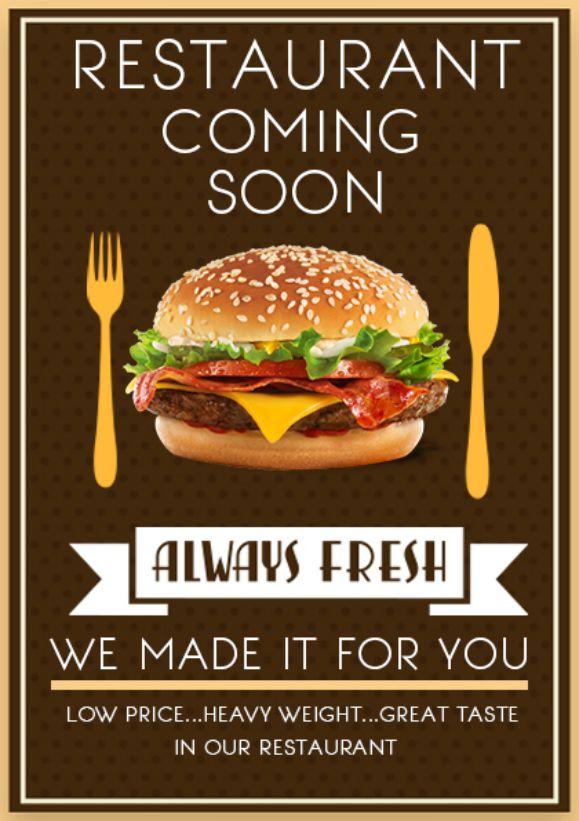 Restaurant Coming Soon Flyer