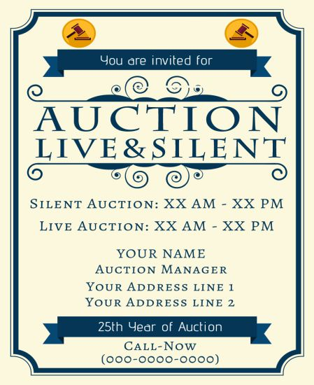 silent auction flyer 10 eye catching flyer templates for free