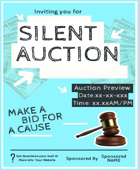 Silent Auction Donation Flyers