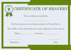 Spiderman Bravery Certificate