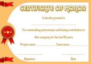 Super Honor Roll Certificate