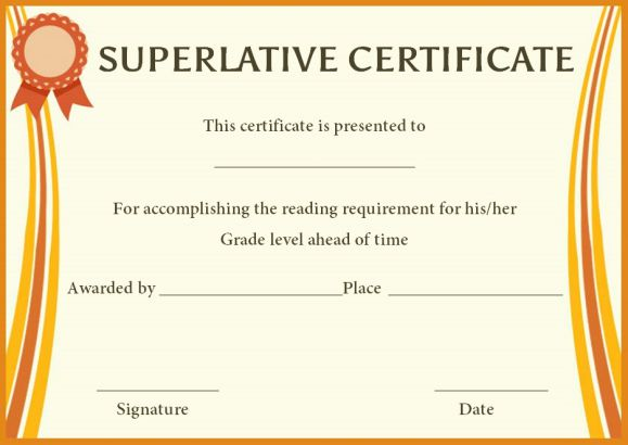 Superlative Certificate Template: 10 Certificate designs ...