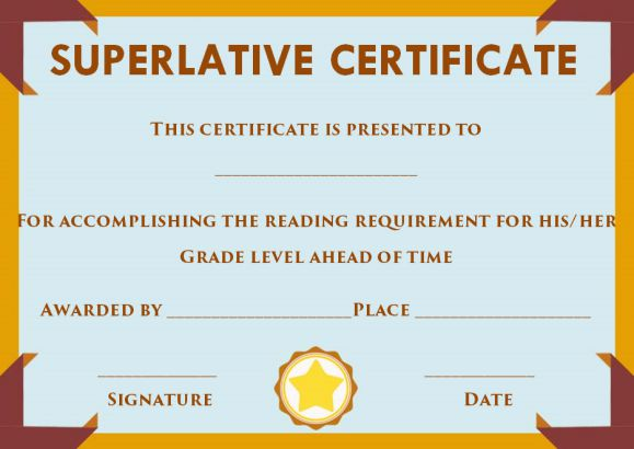 superlative certificate template 10 certificate designs to use for