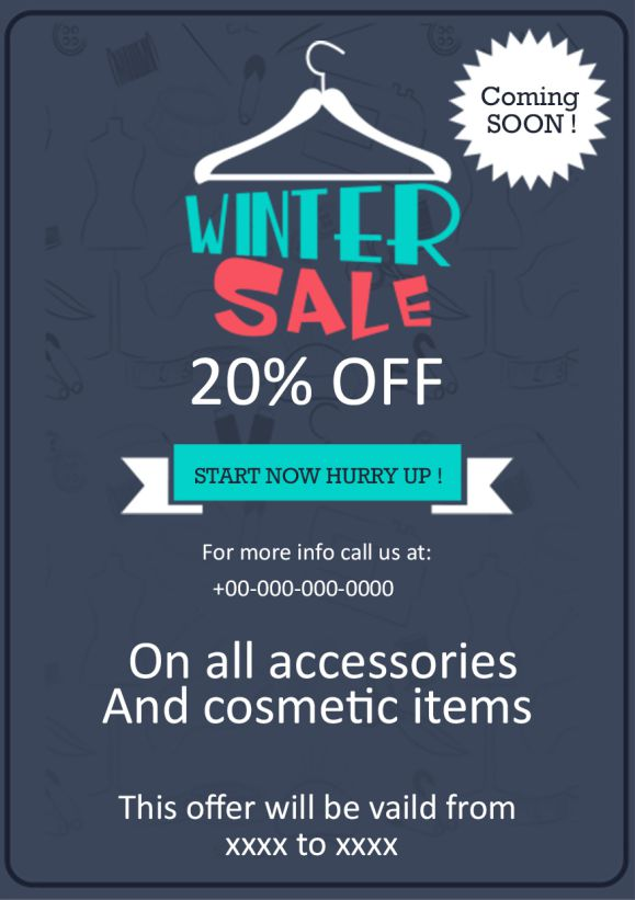 Winter Sale Coming Soon Flyer